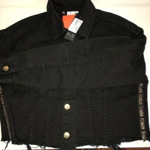 P.E Nation Double Movement Denim Crop Jacket S